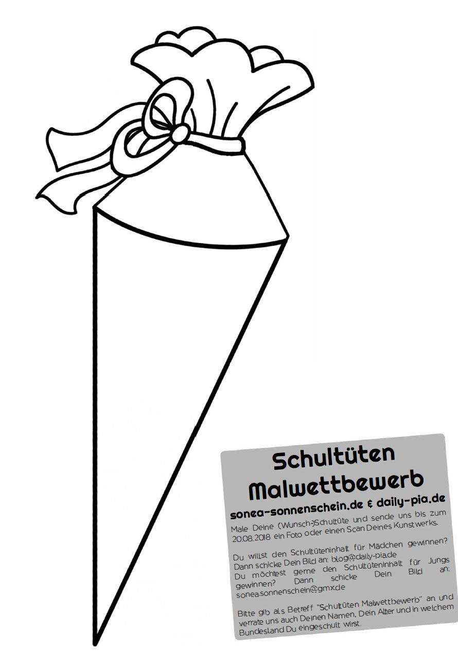 Malvorlage Mädchen Mit Schultüte  Coloring and Malvorlagan