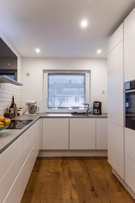 Neue Küche – matt weiß grifflos
